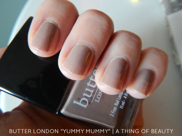 The Ultimate Nude-Butter London's Yummy Mummy, review & swatches! - A Thing of Beauty