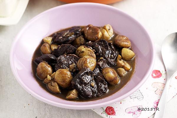 栗子燉野豬肉Epaule de sanglier confite aux chataignes-20150224