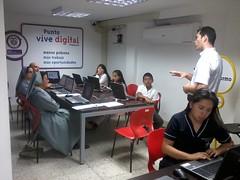 Foto de una formación de docentes en TIC