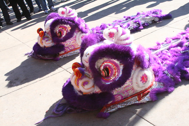 Purple Chinese Lions