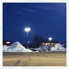 Snow piles. #winter #Colorado