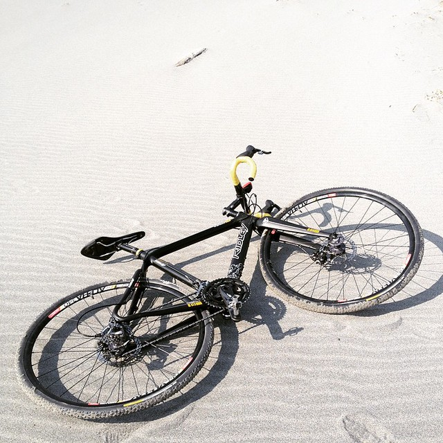 Riding on sand, extremely difficult #ridleybikes #cyclocross