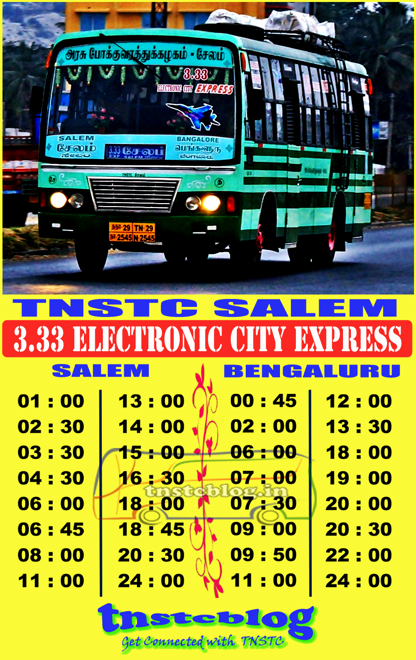 3.33 E.city New Timings Thanks to Madhan.M SSC