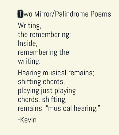 Two Mirror Poems