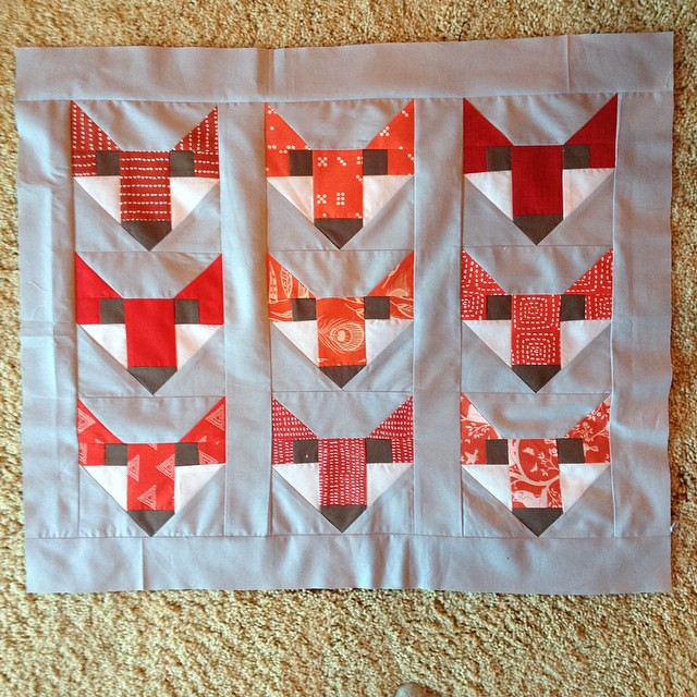 #fancyfox is going to be a pillow - these were fun but not quite enough fun for a whole quilt!