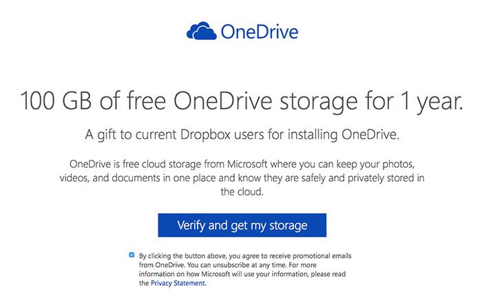 OneDrive free 100GB