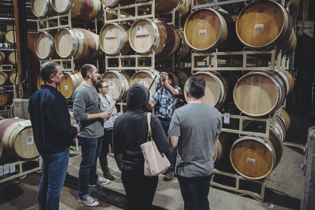 Barrel Tasting at Firestone Vinyards
