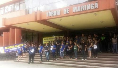 forum de maringá em greve