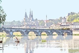The bridge at Blois, near Tours, France