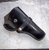 Vintage Black Leather Hunter Pistol Holster