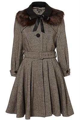 Topshop Tweed Coat
