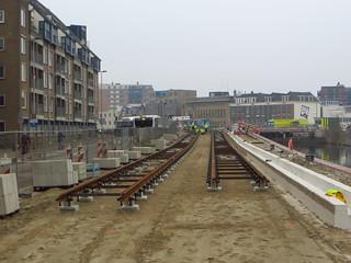 20150320 Delft, Westvest - nieuwe sporen voor lijn 1 & 19