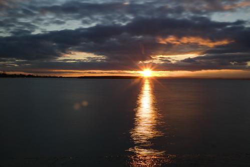 longexposure sunset water austria neusiedlersee