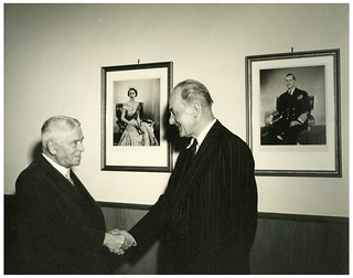 PM Walter Nash with Sir George Mallaby, 1959