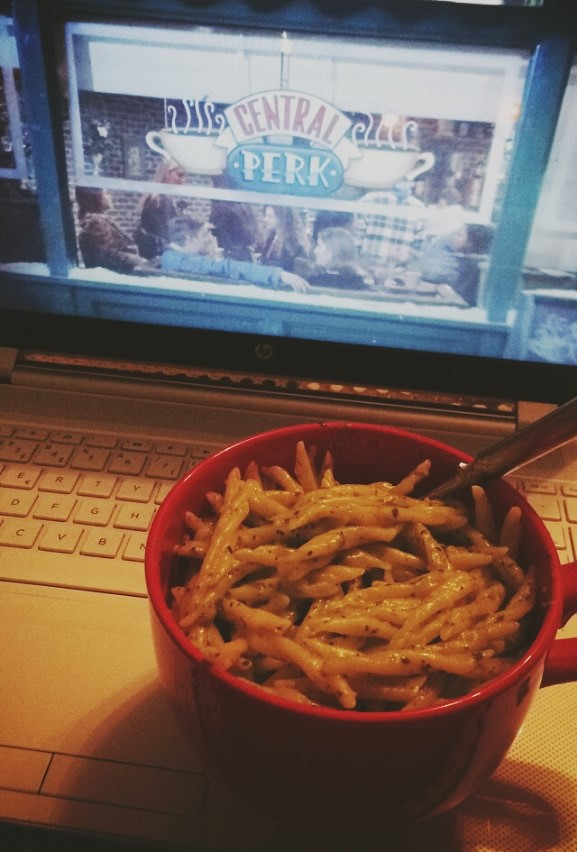 Friends and pasta