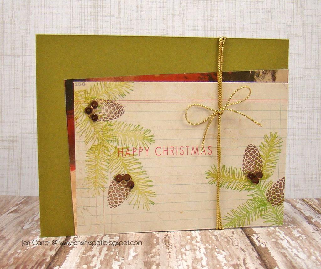 Jen Carter Pine Cone Christmas