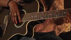 bassist(0.0), slide guitar(0.0), bass guitar(0.0), string instrument(1.0), musician(1.0), music(1.0), acoustic guitar(1.0), guitarist(1.0), guitar(1.0), jazz guitarist(1.0), acoustic-electric guitar(1.0), string instrument(1.0),