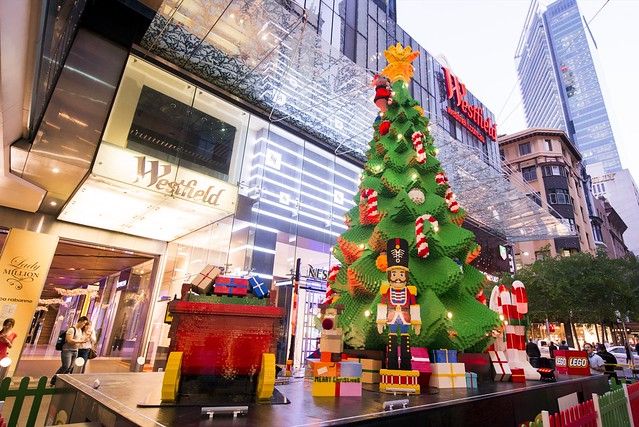 LEGO Christmas tree in Pitt St Mall Sydney.
