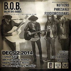Tonight @unioneav we have a Special edition of #BOBEAV we have  @foodforcougars as well as @phriday13 and  @NGTVZRO in the house turning things up with a live show doors open at 10pm show starts at 10:30. It's only $.99 cents to get we still have the 1.99