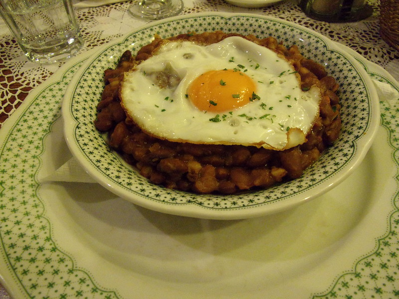 Cholent with egg