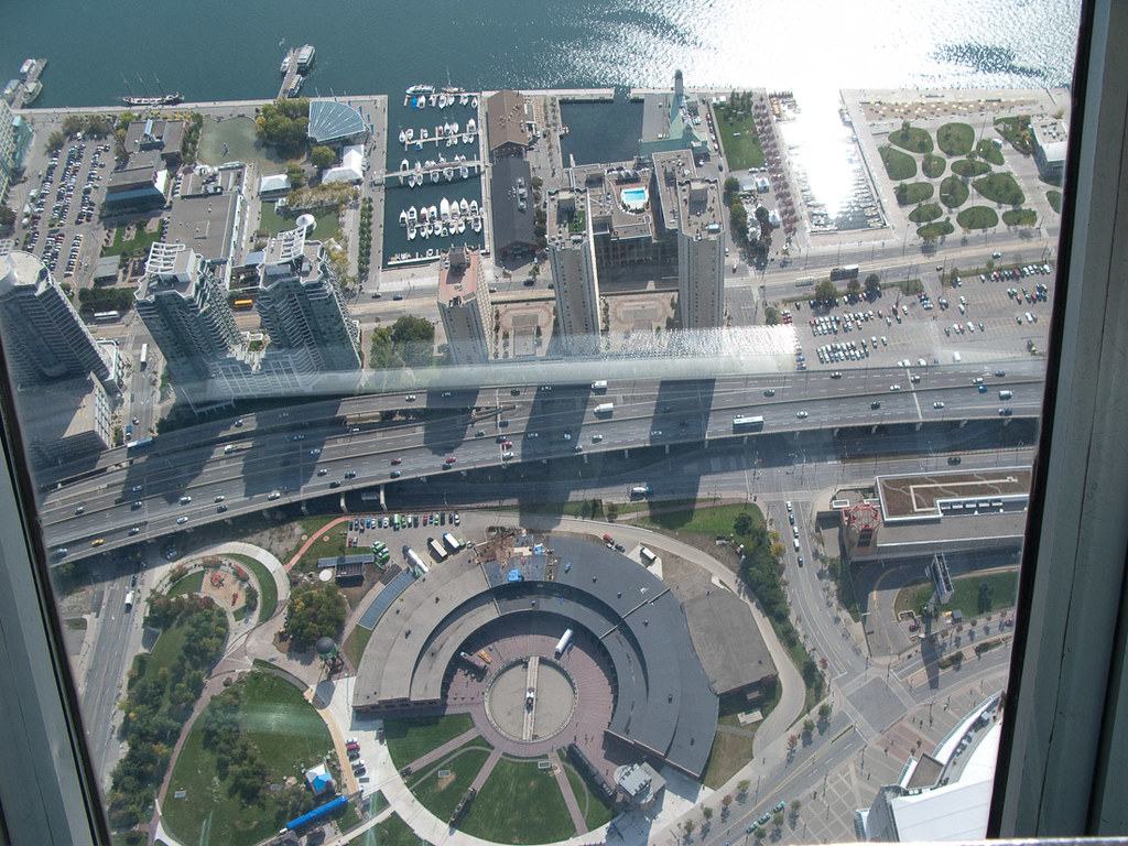 View from top deck of CN Tower