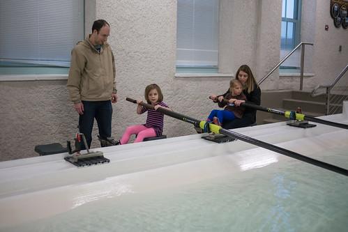 Leah rowing