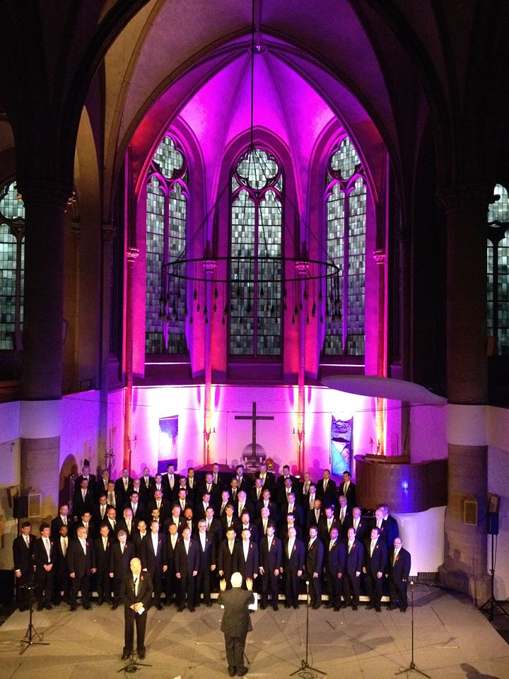 Seattle Men's Chorus performs in the Friedenskirche in Krefeld