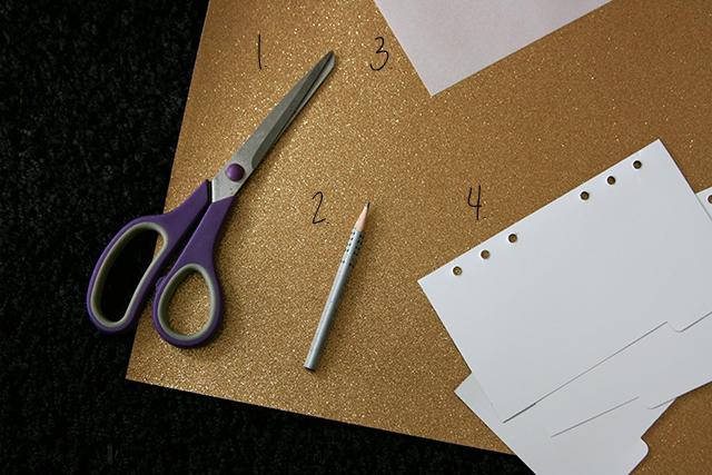 DIY Gold Glitzer Divider