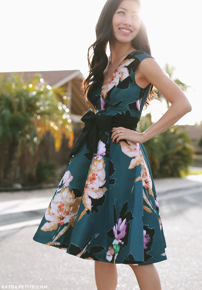 anthropologie petites floral dress 3