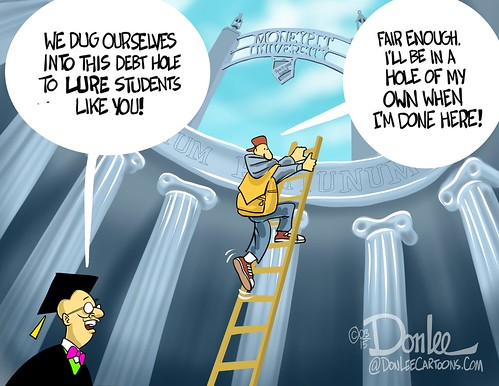 college debt cartoon