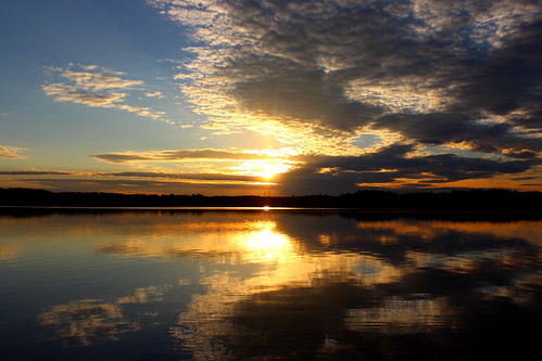 sunset reflections northcarolina donovan partlycloudy