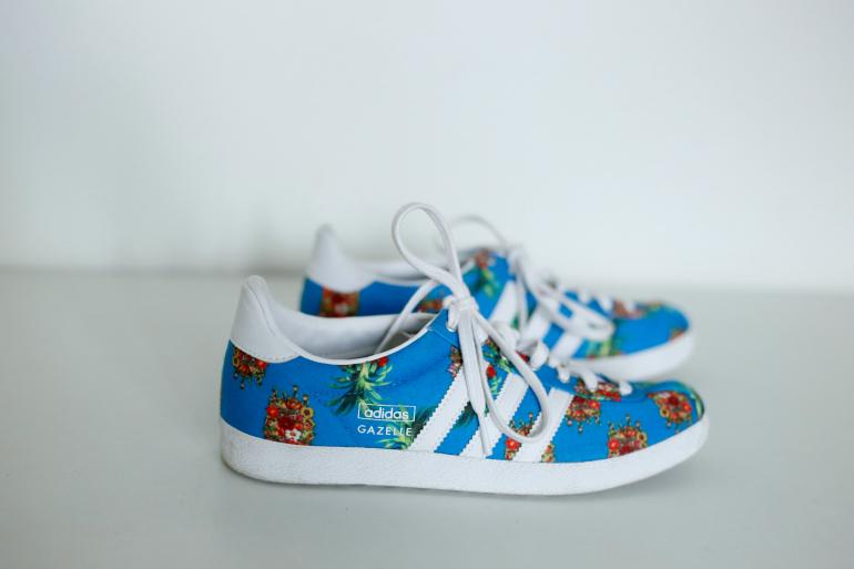 adidas x the farm gazelle sneakers