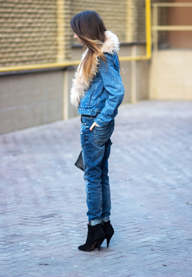 wearing denim