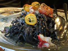 Squid Ink Pasta, YAKITORI-YA at Orsa & Winston