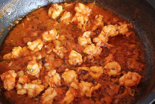Tallarines picantes con gambones www.cocinandoentreolivos.com (11)