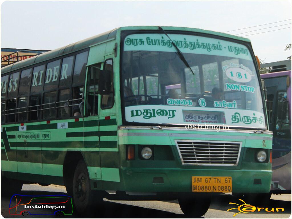 TN-67N-0880 of Sivakasi Depot Route Sivakasi - Trichy via Madurai.