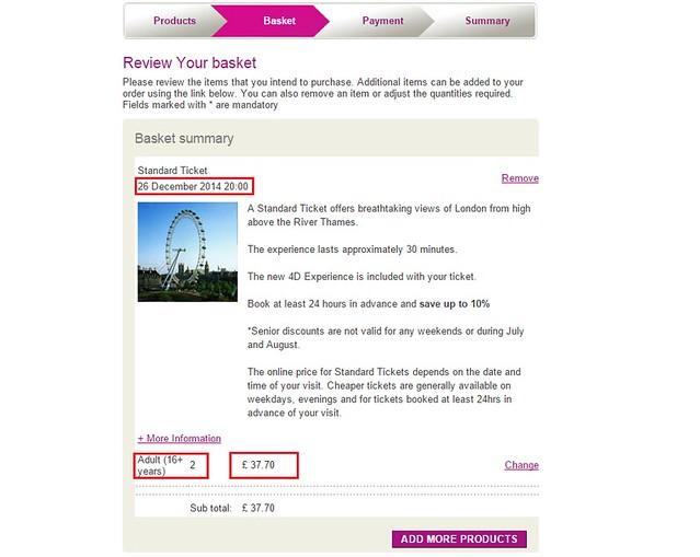 London eye 訂票- (6)