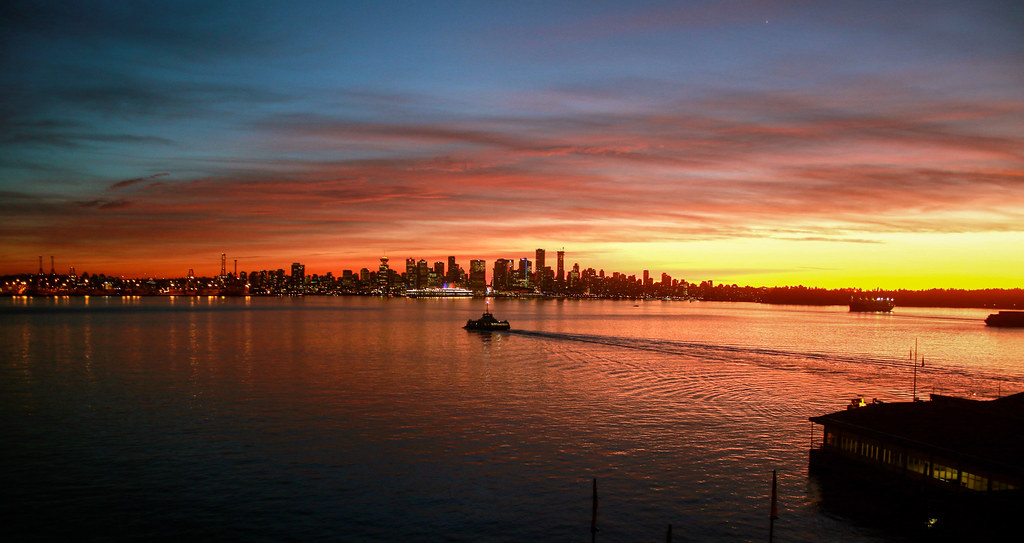 Lonsdale Quay Sunset
