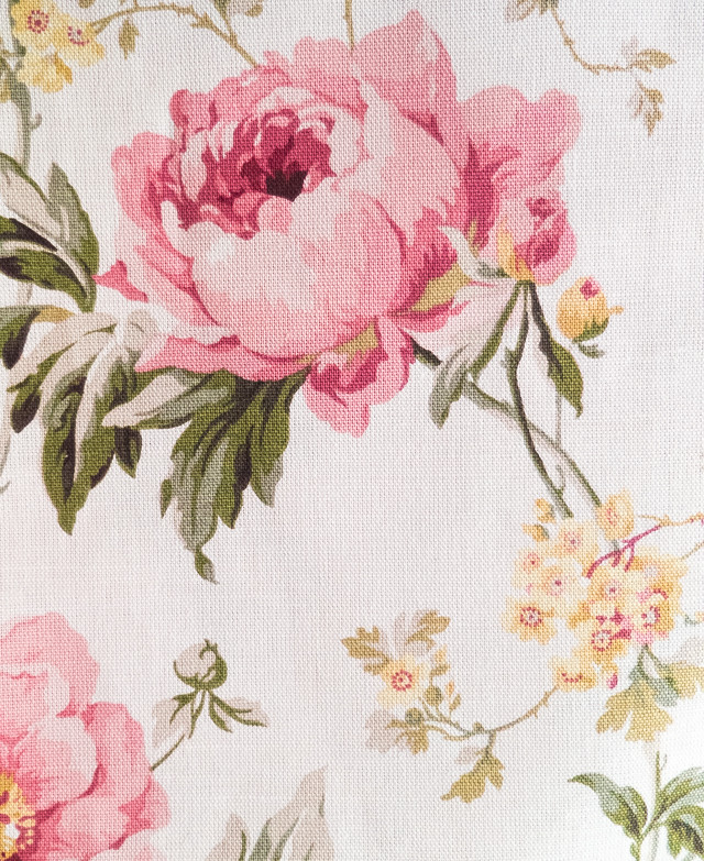 laura ashley fabric with pink rose