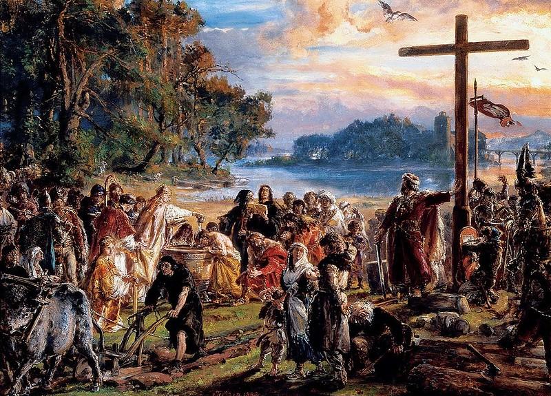 Christianization of Poland by Matejko