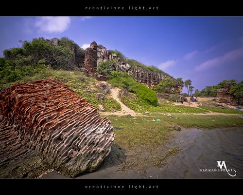 ruins fort stones remnants tamilnadu alamparaifort creativince