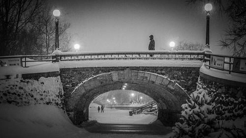 bridge winter bw snow cold ice canon ottawa rideaucanal innamoramento 5dmkiii 2470f28ii