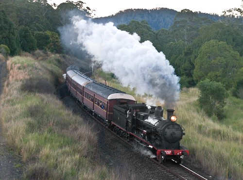 3237 approaching Karangi, North Coast Railway, NSW, 3rd July, 2010.