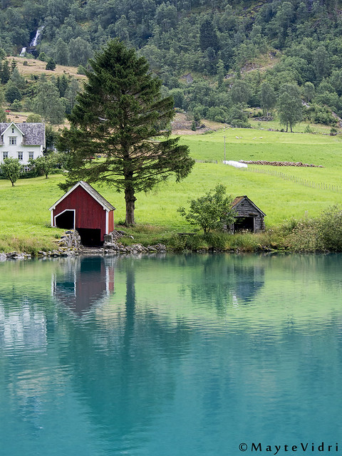 blue lake at Stryn, Norway