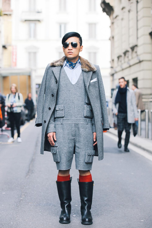 Bryanboy wearing an Alexander Wang jumpsuit in Milan