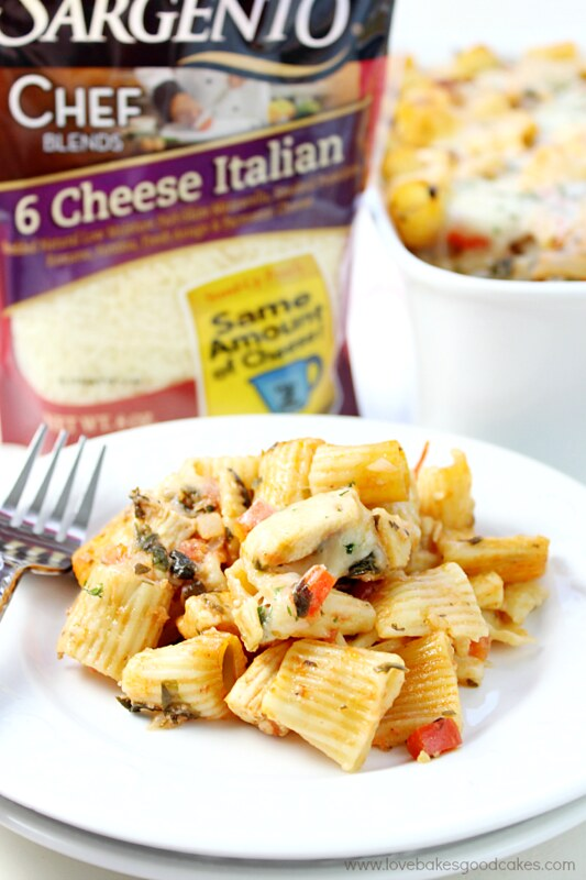 This Six Cheese Chicken Pasta Bake is easy and cheesy! #ChoppedAtHome #contest #RealCheesePeople #ad