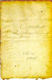 Espediente of Samuel Carpenter and Associates, 1846 (laarc-1 77 99~1)