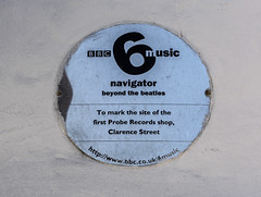Photo of Probe Records brushed metal plaque