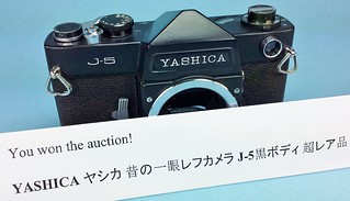 """My """"not authentic"""" black body Yashica J-5...please read on."""