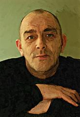 facial hair(0.0), sketch(0.0), drawing(0.0), art(1.0), painting(1.0), head(1.0), self-portrait(1.0), illustration(1.0), portrait(1.0),